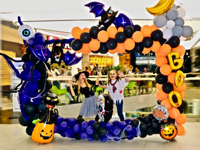 Fotokoutek Halloween - balónky a fotokoutek