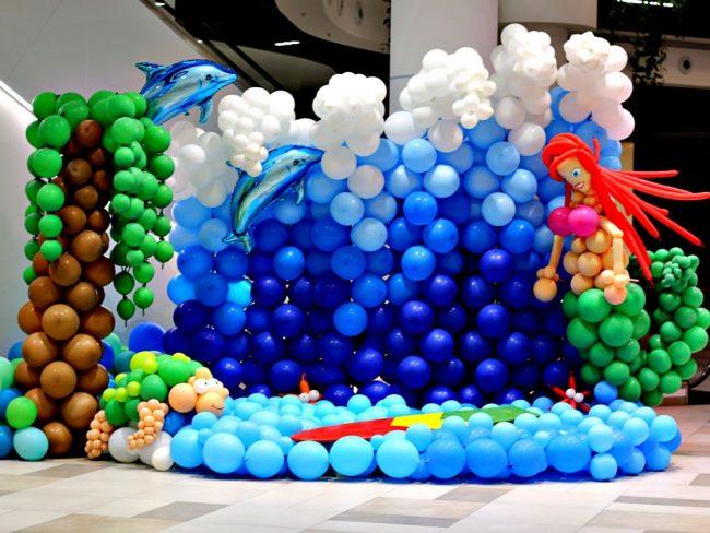 Balónková výstava - balónkový fotokoutek - Mořský svět