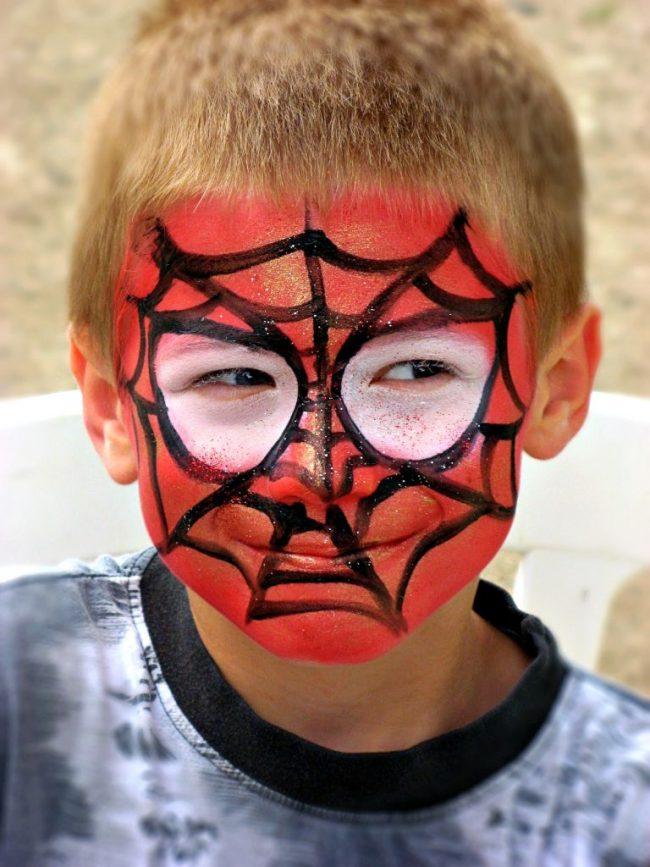 Malování na obličej Spiderman - Facepainting Superhrdina - doprovodný program pro děti.