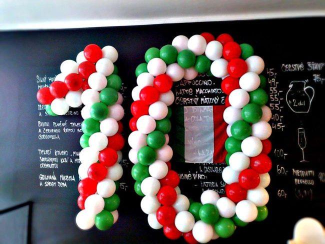 Číslice z balónků pro různé příležitosti - oslavy narozenin