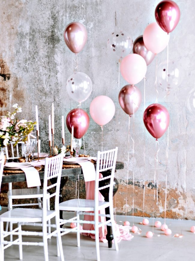 Létací balónky s héliem - balónková výzdoba héliová - balónkový trs na těžítku-chrom balónky