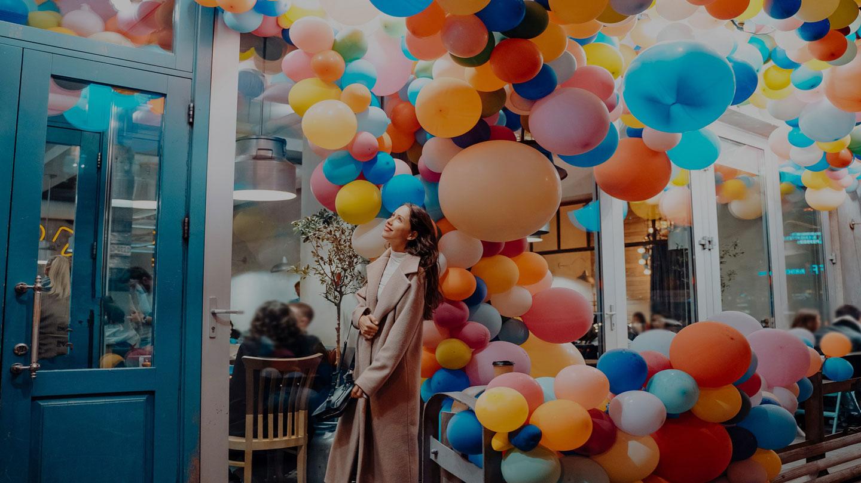 Balonky na party - balónkové sloupy